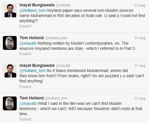 Conversation between Inayat and Tom Holland on Twitter