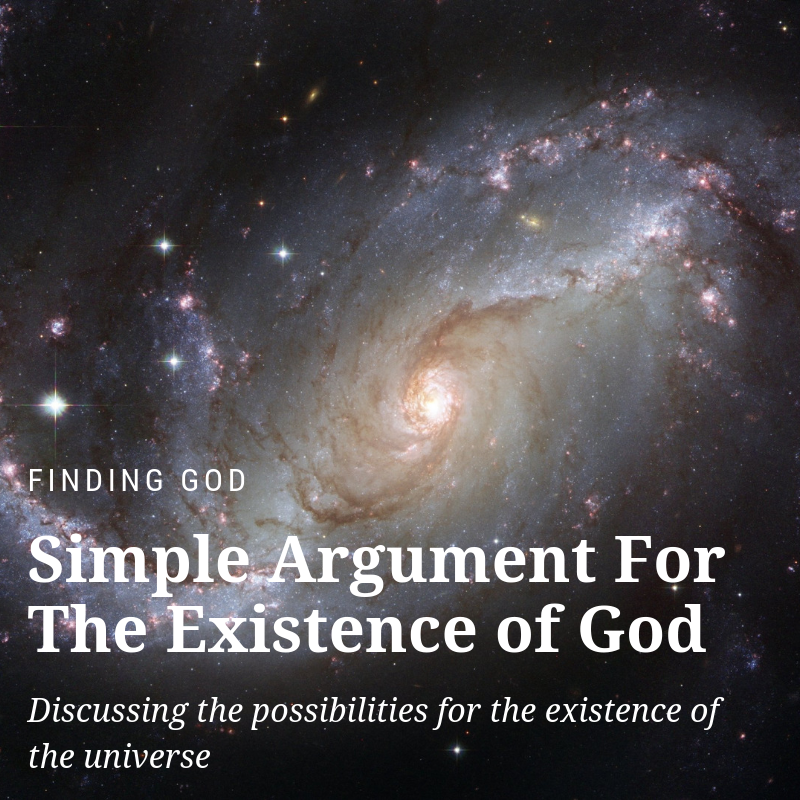 Simple argument for the existence of god