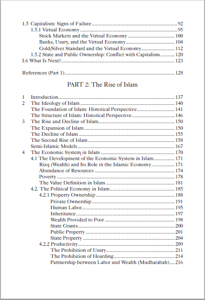 fall of capitalism rise of islam table of contents