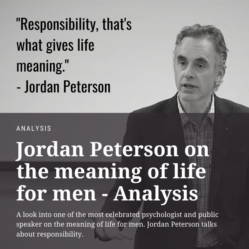 jordan peterson meaning of life for men